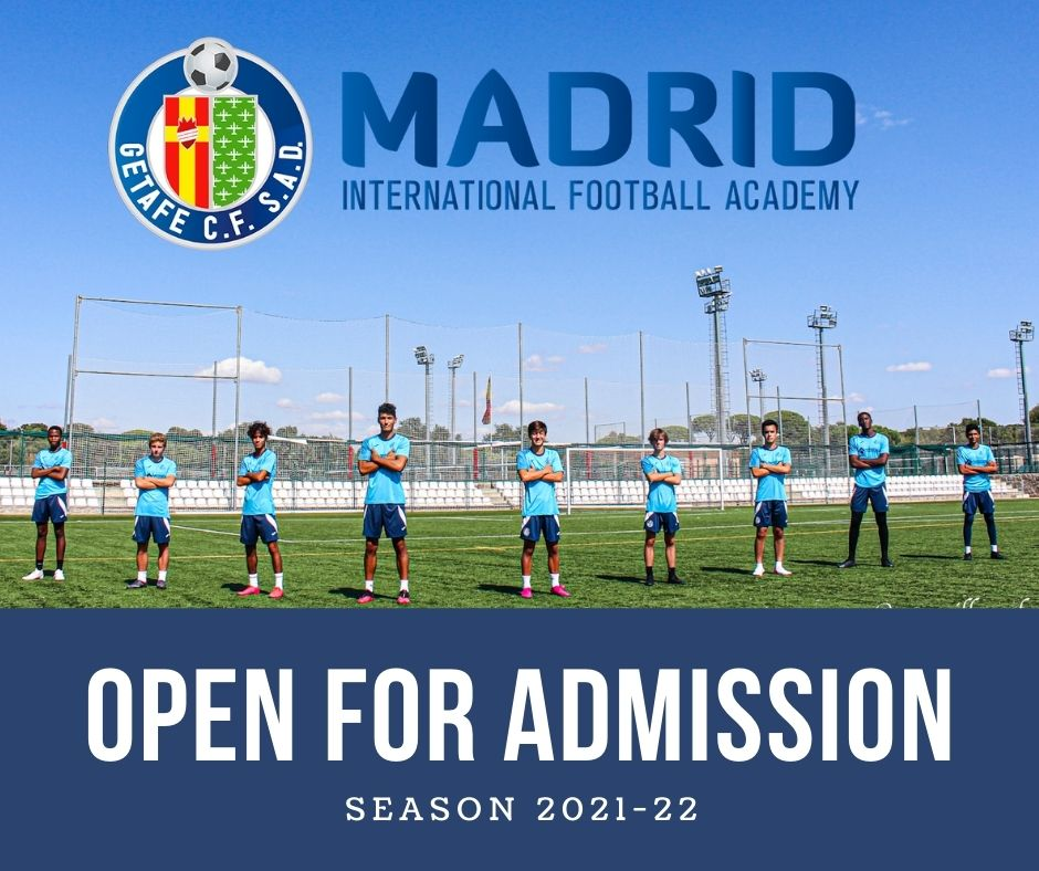 Getafe International Madrid Football Academy Open for Admission
