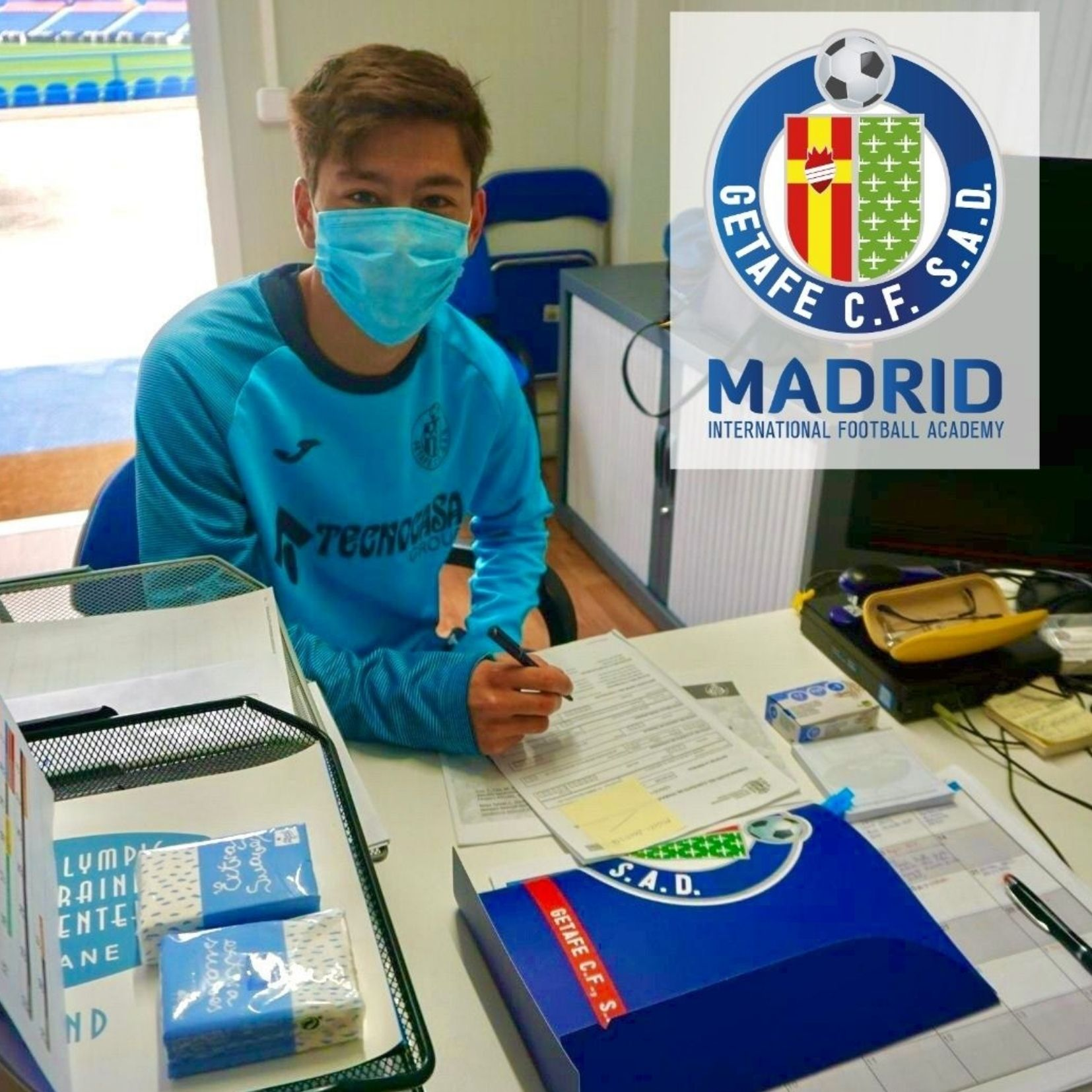 Max Ogawa Signs with the Under19 Getafe CF Team