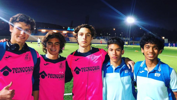 Getafe C.F Selects 5 Getafe International Academy Players to train in the official sub17 team!